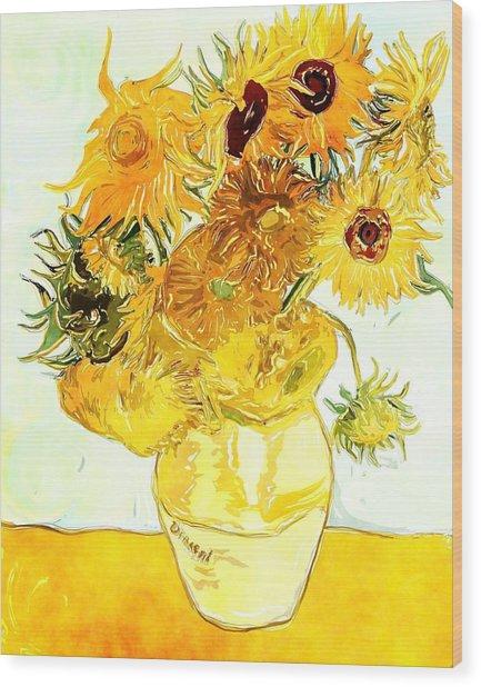 Sunflowers - Van Gogh Wood Print