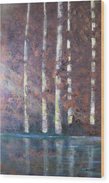 Sunlight And Birch Wood Print