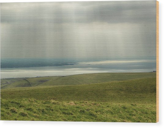 Sunlight On The Irish Coast Wood Print