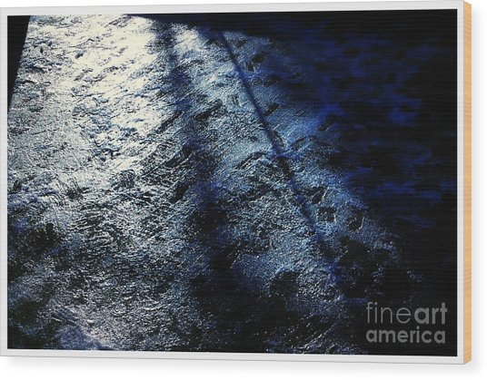 Sunlight Shadows On Ice - Abstract Wood Print