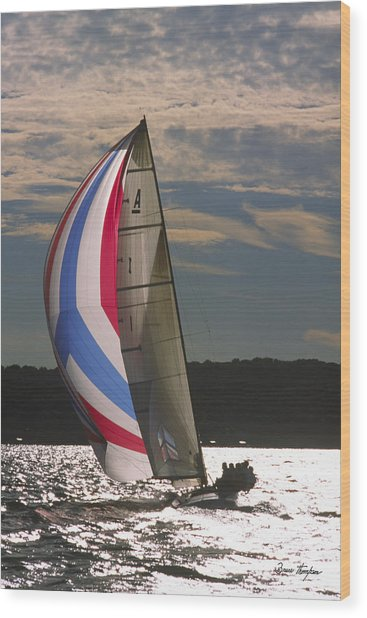 Sunlit Sails - Lake Geneva Wisconsin Wood Print