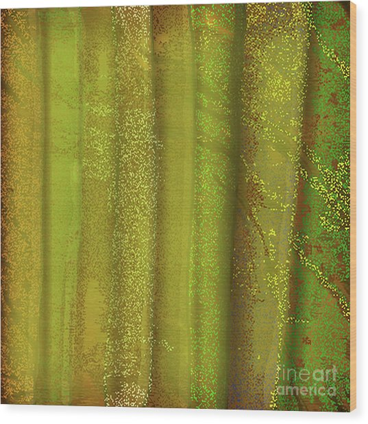 Sunlit Fall Forest Wood Print