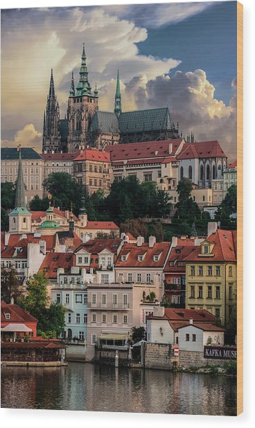 Sunny Afternoon In Prague Wood Print