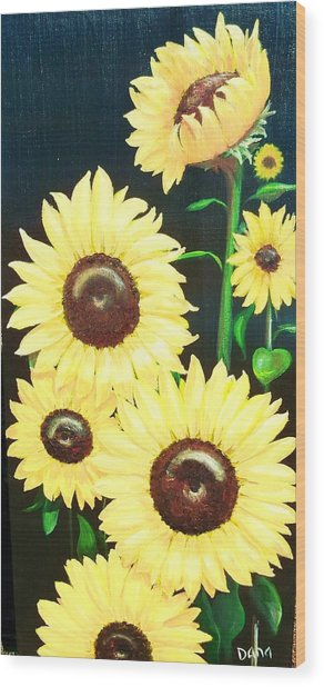 Sunny And Share Wood Print by Dana Redfern