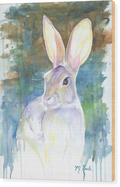Sunny Bunny Wood Print