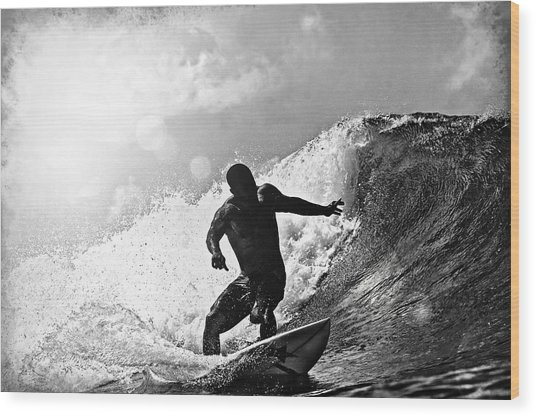 Sunny Garcia In Black And White Wood Print
