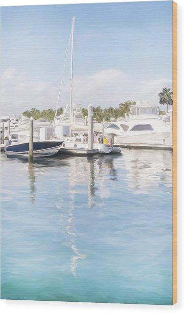 Sunny Harbor Wood Print