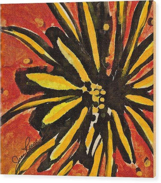 Sunny Hues Watercolor Wood Print