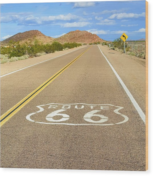 Sunny Route 66 Wood Print
