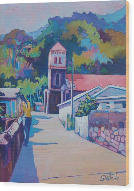 Sunny Soufriere Wood Print