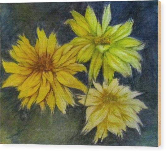 Sunny Yellow Wood Print