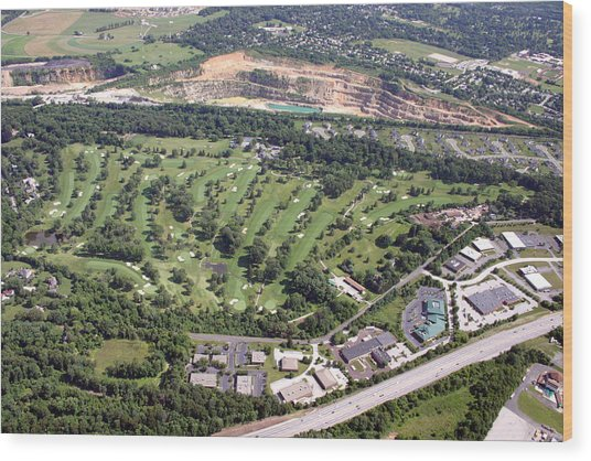 Sunnybrook Golf Club Golf Course Wood Print by Duncan Pearson