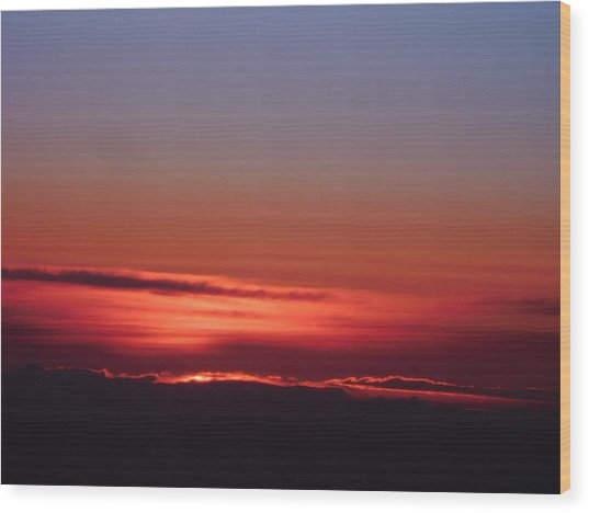 Sunrise A Different View Wood Print