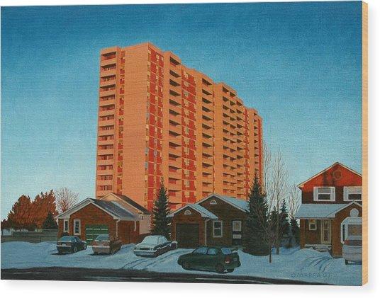 Sunrise Ajax Wood Print by Allan OMarra