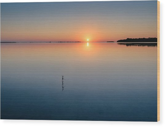 Sunrise Along The Pinellas Byway Wood Print