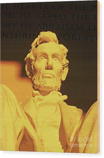 Sunrise At Abraham Lincoln Wood Print