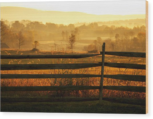 Sunrise At Antietam Wood Print