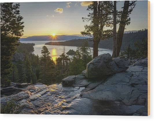 Sunrise At Emerald Bay In Lake Tahoe Wood Print
