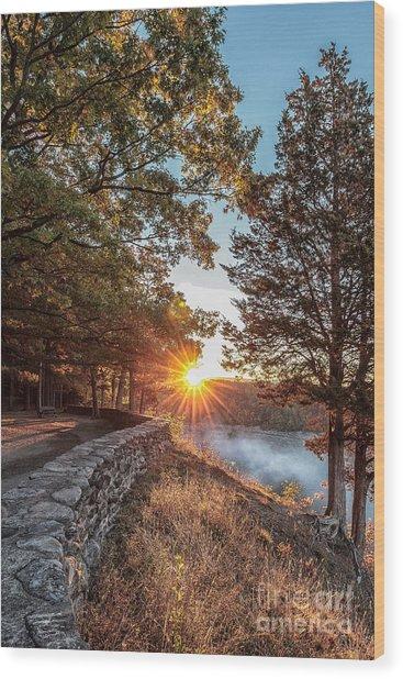 Sunrise At Great Bend Wood Print