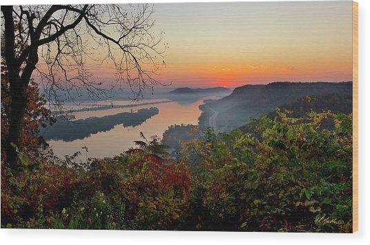 Sunrise At Homer, Mn Wood Print