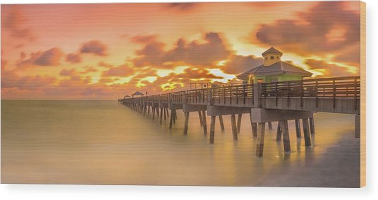 Sunrise At Juno Beach Wood Print