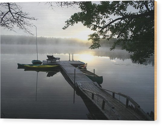 Sunrise At Lake Wood Print by Dennis Curry