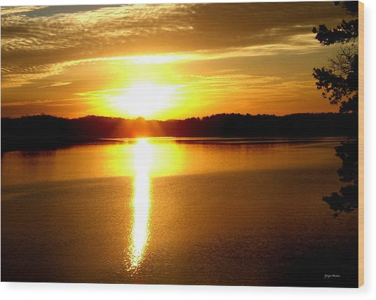 Sunrise At Lake Lanier 001 Wood Print