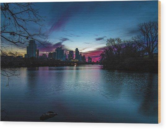 Sunrise At Lou Neff Point Wood Print