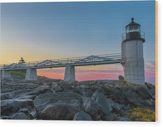 Sunrise At Marshall Point Wood Print