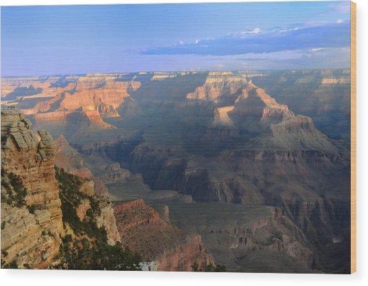 Sunrise At Mather Point  --  Grand Canyon  Wood Print