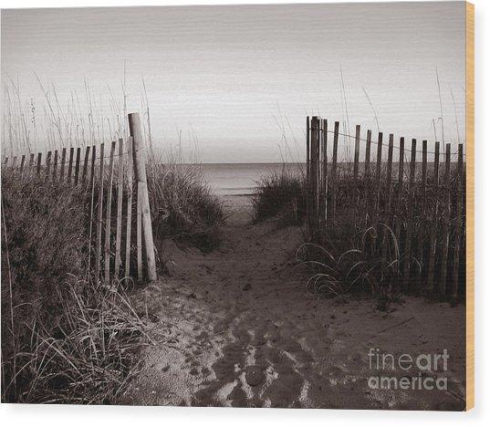 Sunrise At Myrtle Beach Sc Wood Print