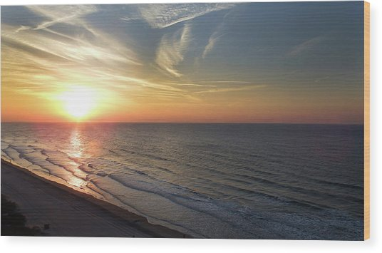 Sunrise At North  Myrtle Beach Wood Print