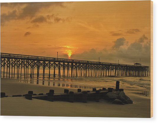 Sunrise At Pawleys Island Wood Print