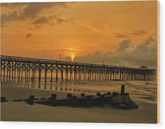 Sunrise At Pawleys Island Wood Print