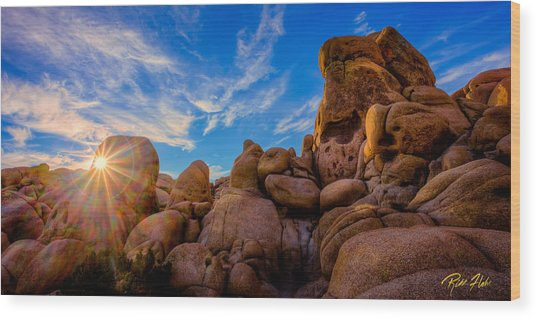 Sunrise At Skull Rock Wood Print