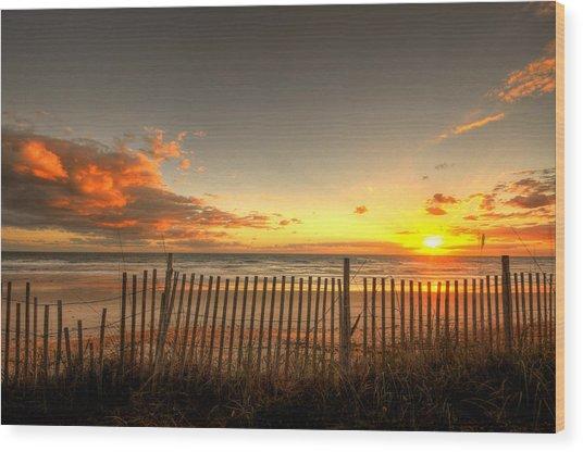 Sunrise At Snack Jacks Wood Print
