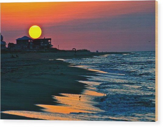 Sunrise At St. George Island Florida Wood Print