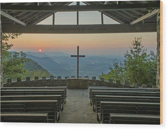 Sunrise At Symmes Chapel Aka Pretty Place  Greenville Sc Wood Print