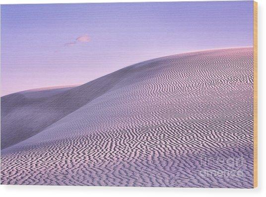 Sunrise At White Sands Wood Print