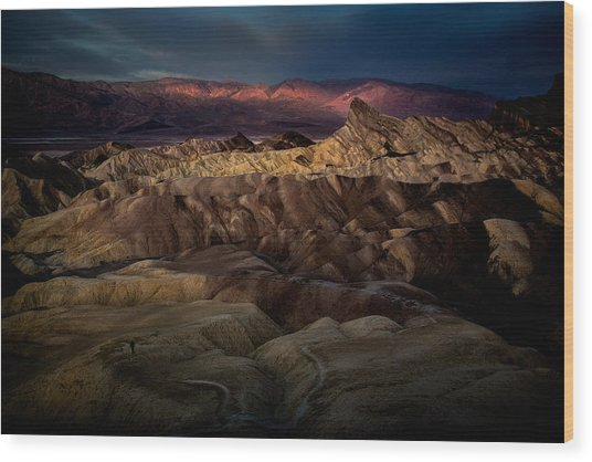 Sunrise At Zabiskie Point Wood Print