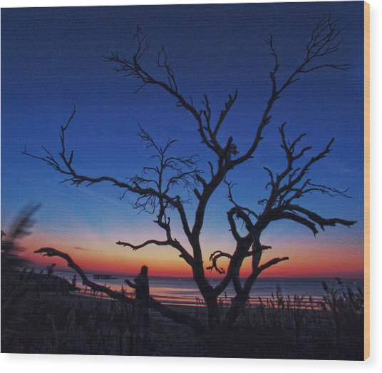 Sunrise Beach Wood Print