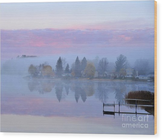 Sunrise Comes To Stoneledge Lake Wood Print