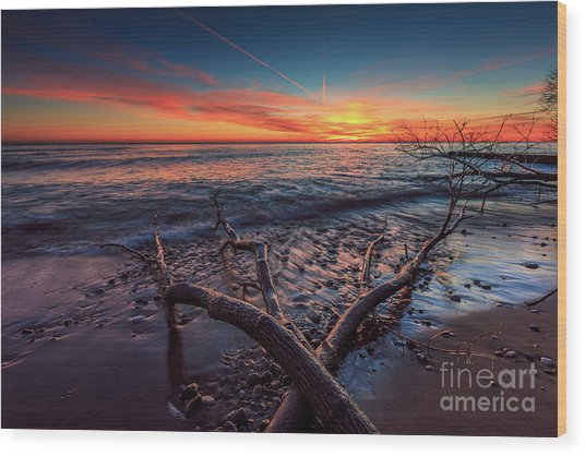 Sunrise Crossing  Wood Print