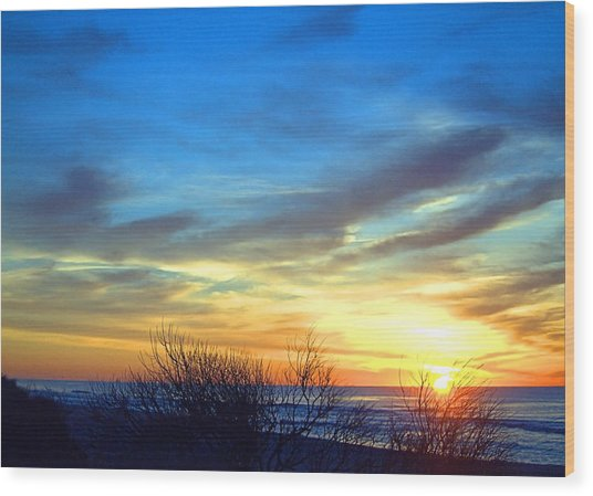 Sunrise Dune I I Wood Print