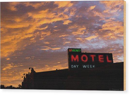 Sunrise Enters Capitola Wood Print