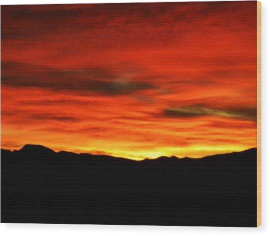 Sunrise Wood Print by Eric De La Fuente