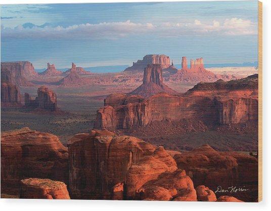 Sunrise From Hunt's Mesa Wood Print