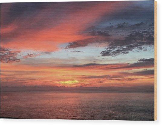 Sunrise From Koko Head Wood Print