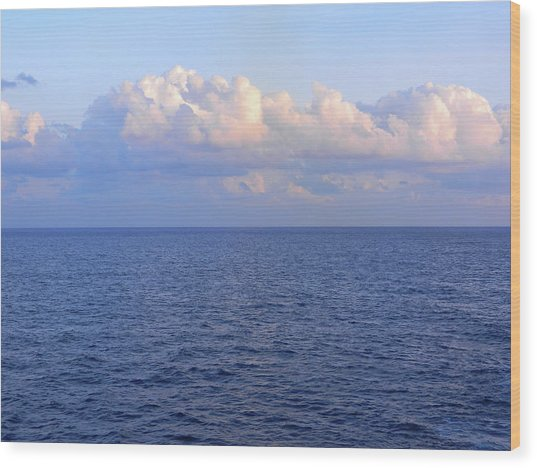 Sunrise From The Atlantic Ocean Wood Print