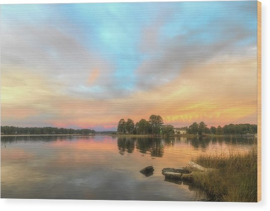 Wood Print featuring the photograph Sunrise, From The West by Cindy Lark Hartman